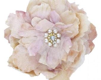 velvet rose corsage. pearl and velvet rose slide. cabbage rose slide. millinery rose. millinery couture. wedding accessory. flowergirl rose