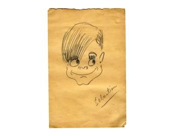 Original Pencil Drawing, Caribbean Children Portrait, Naive Art, Original Drawing, Drawing Pencil Sketch, Pencil Artwork, Original Sketch