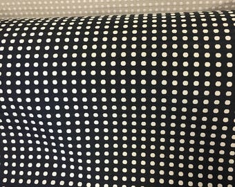 Black Cream Cotton Blend Waverly Button Up Home Decor Fabric Small Dots Modern Pattern Geometric Upholstery Drapery Curtains