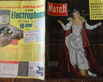 Vintage French Paris Match Magazine No 506 Brigitte Bardot Special circa 20 Dec December 1958 / English Shop
