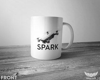 DJI Spark - 11oz Coffee Mug for Aerial Photographers and Drone Pilots