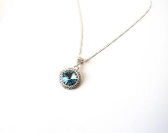 Aquamarine Necklace, March Birthstone Necklace, Aquamarine Birthstone Necklace, Aquamarine Pendant, Birthstone Necklace for March Birthstone