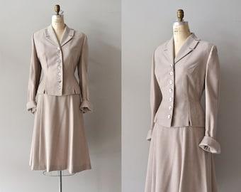 Engel-Fetzer wool suit • vintage 1940s suit • wool 40s suit