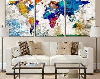 World map canvas etsy world map wall art world map canvas world map print world map canvas world map art world map push pin large wall art world map canvas gumiabroncs Choice Image