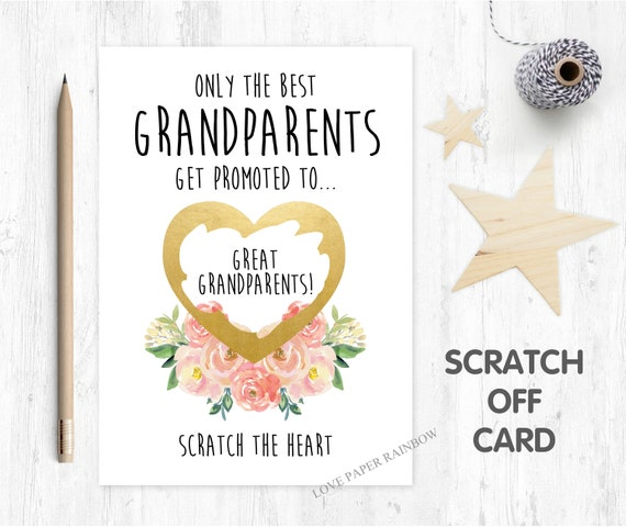 i'm pregnant, pregnancy reveal pregnancy announcement pregnancy scratch card i'm pregnant scratch card you're going to be great grandparents