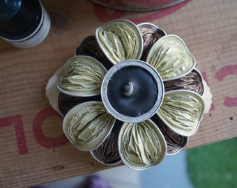 Beige and Brown Nespresso candlestick