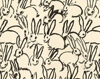 Hunt Slonem- FREE SHIPPING- Groundworks-Bunny Hutch- Fabric By The Yard-