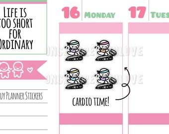 Munchkins - Treadmill Running Cardio Workout Planner Stickers (M287)
