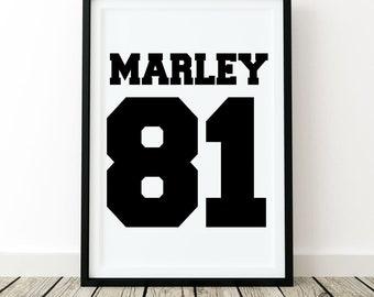 Bob Marley, print wall art poster quote home decor inspirational black white fashion minimalist bedroom motivation modern music reggae