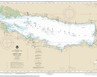 Official NOAA Chart of Oneida Lake- Lock 22 to Lock 23; Chart 14788