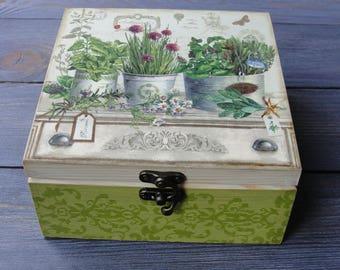 Wooden tea box Tea bag storage Tea chest Tea storage box Tea organizer Wood tea box Tea box wood Tea gift box Gift for tea lover Tea caddy