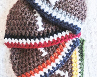 Football Hat Hand-crocheted Baby Beanie Custom Team Colors By Distinctly Daisy