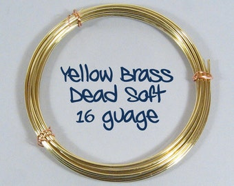 16ga 25ft DS Yellow Brass Wire