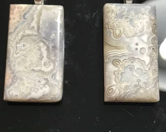 Mexican Crazy Lace Agate Pendants