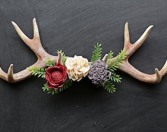 Faux Deer Head With Wreath