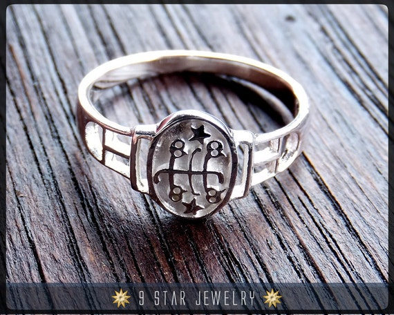 Brs2 Silver Bahai Ring Stone Symbol Ring Sizes 25 To