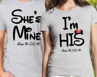 couple t shirts, couples disney shirts, pärchen t-shirts, matching couple shirts, his and hers shirts, wedding shirts, couples shirts