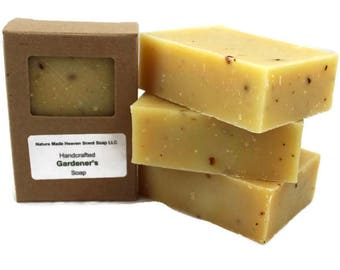 Gardener's Bar Soap 5.5 oz., Cold Process, Handmade, Dog Shampoo, Mosquito Repellant