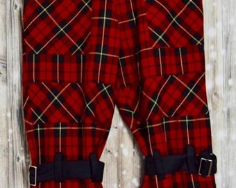 P_008) Vintage checkered three-quarter pants