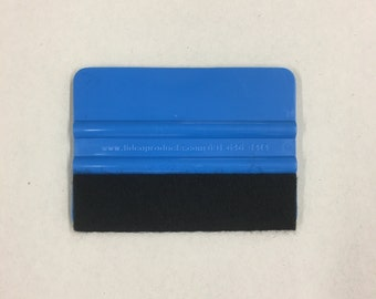 """4"""" squeegee with  felt edge /  Must have when making vinyl graphics and decals. For applying transfer tape and Decals."""