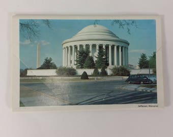 Postcard Souvenir Folder Washington DC LB Prince Co. Inc Fairfax Virginia VTG