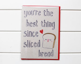Greetings Card - Sliced Bread