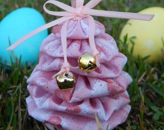 Pink Glitter Yo Yo Egg Ornament