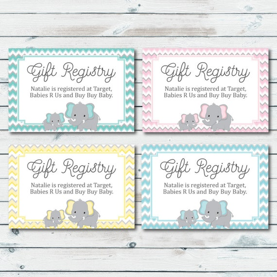 baby registry cards registry inserts baby shower gift