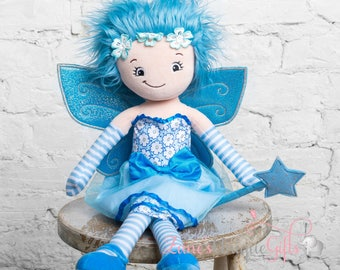 Personalised Rag Doll / Fairy Doll / Dolls for Girls / Soft Dolls / Doll Bear / Doll for Baby Girls / Doll for Gift / First Birthday Gift