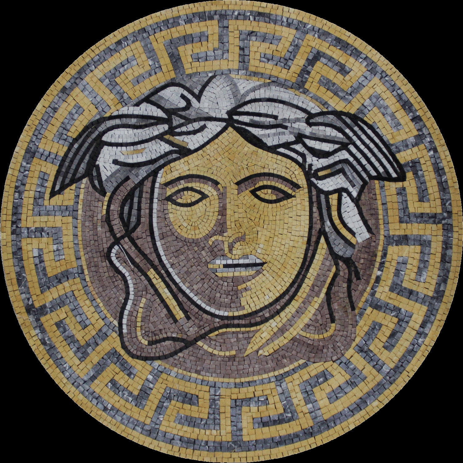 Round Medallion Wall Art Round Medallion Versace Greek Wall Floor Home Decor Marble