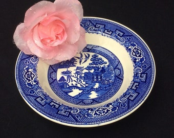Homer Laughlin Bowl, Blue Willow Transfer Ware, Blue and White