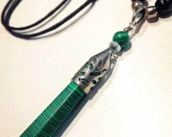 Esprit libre MALACHITE collier noir/vert