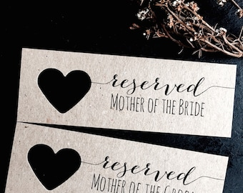 Reserved Chair Signs, Wedding Reserved Signs, Reserved Tags, Wedding Reserved Signs, Personalised Reserved Tags, Reserved Signs, Reserved