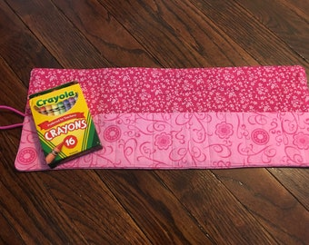 Crayon Roll, Crayon Holder, Crayon Gift, Crayon Holder for kids, Crayon Holder for School, Crayon Rollup,