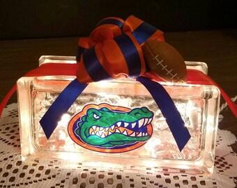FLORIDA GATORS Lighted Glass Block