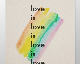 Love is love is love is love, human rights poster, protest sign, LGBTQA rights poster