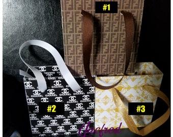 Designer inspired Mini gift bags