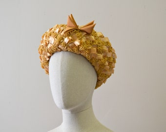 1960s Straw Halo Hat
