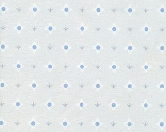 Fabric by the Yard - Whisper by Lizzy House - Meadow Flower White