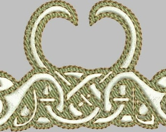 Celtic Swans Embroidery Design