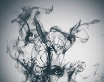 prints wall art abstract smoke