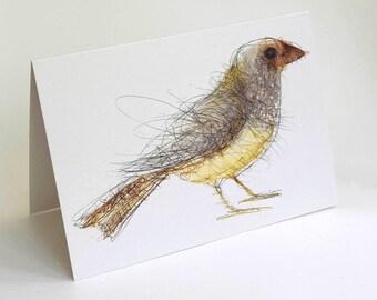 Starfinch Card, Greeting Card, Bird Art Card, Bridget Farmer Card, Australia, Australian Bird