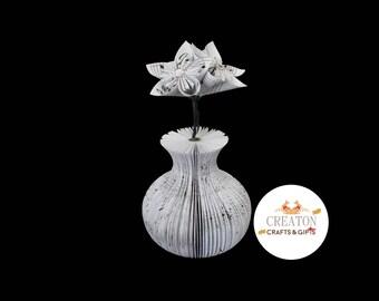 Music sheet flowers - Musical gift - Music teacher gift - Gift for Musician - Music sheet origami - Music score gift - Music flower Gift