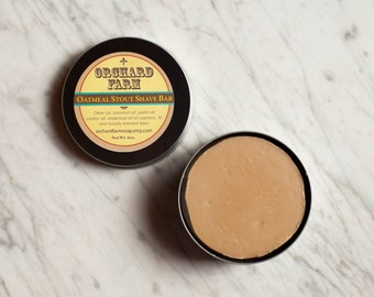 Oatmeal Stout Shave Soap///Natural Shave