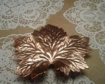 Coppertone Maple Leaf Brooch