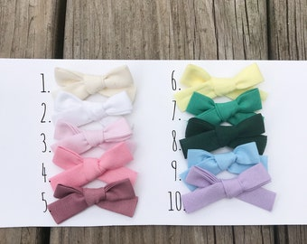 MINI Solid Hand Tied Bow