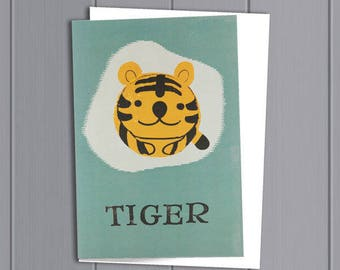 Tiger Card and Paper Balloon
