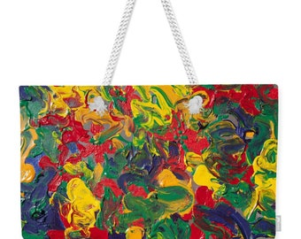 "24"" x 16"" Oversized  Weekender Tote Bag - Abstract Art Design"