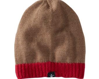 Kids caramel hat in merino wool