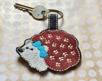 key chain hedgehog